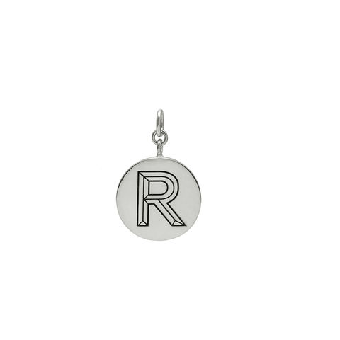 FACETT,INITIAL,PENDANT,-,SILVER,/,PERSONALISED,INITIAL PENDANT, PENDANT,  TYPOGRAPHY, FONT