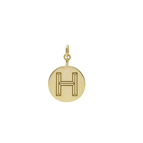 FACETT,INITIAL,PENDANT,-,GOLD,/,PERSONALISED