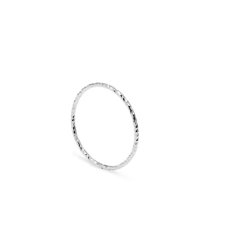 ULTRA SKINNY DIAMOND STACKING RING - SILVER - product image