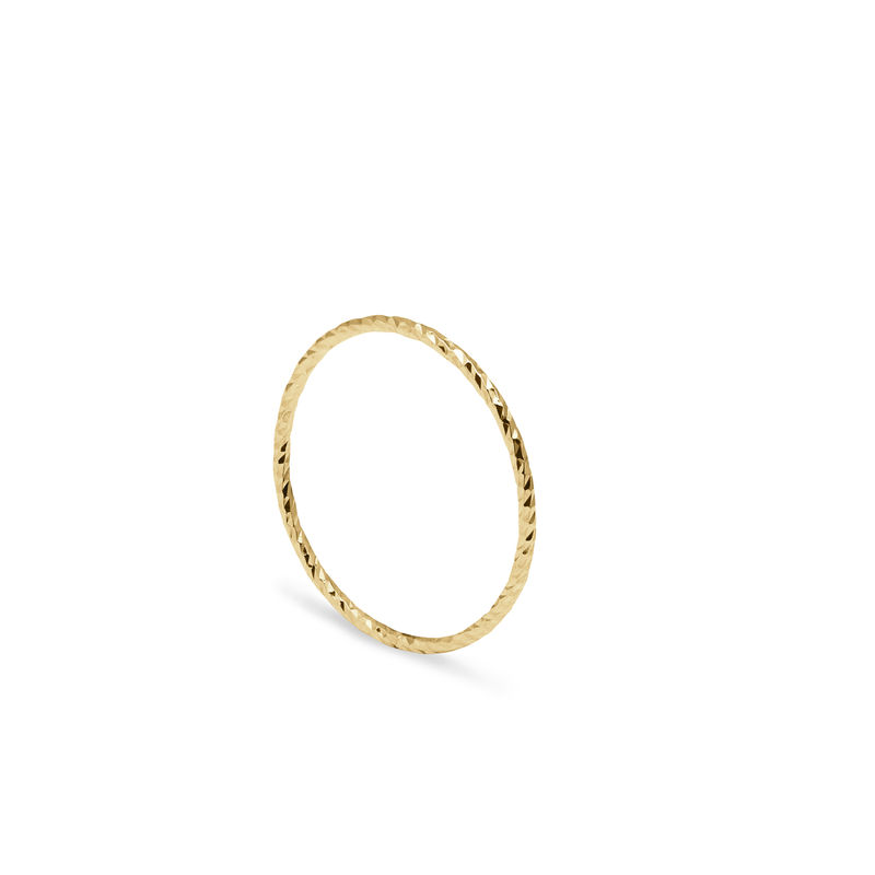ULTRA SKINNY DIAMOND STACKING RING - 9CT YELLOW GOLD - product image