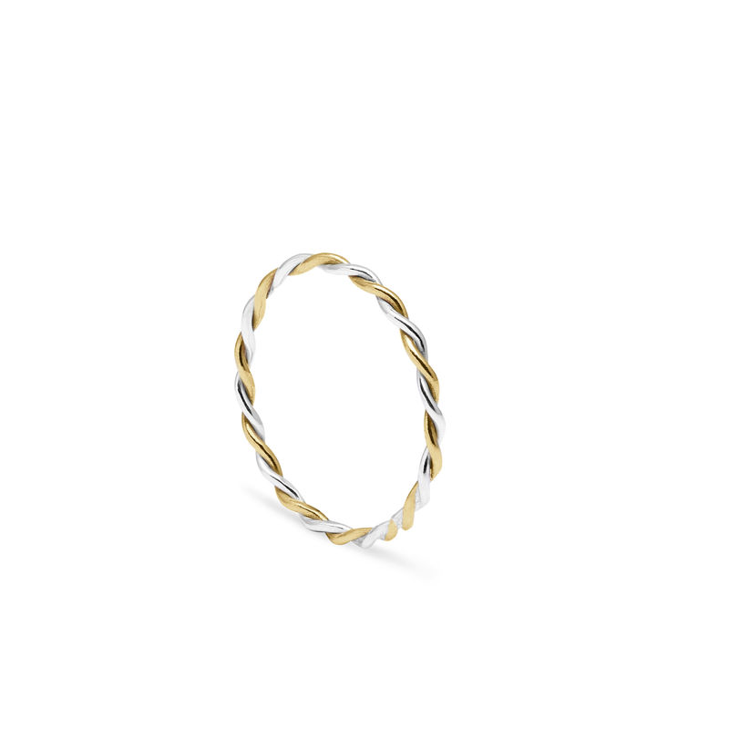TWO-TONE TWIST RING - 9CT & SILVER - product image