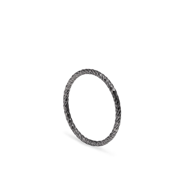 FACETED DIAMOND RING - BLACK - product images  of