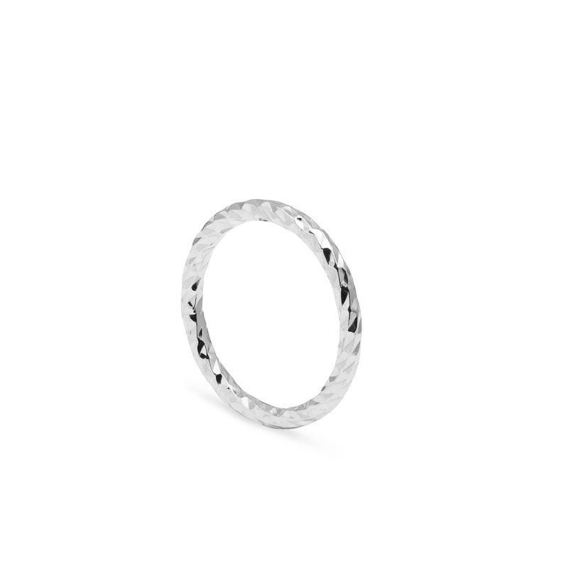 FACETED DIAMOND BAND - SILVER - product images  of