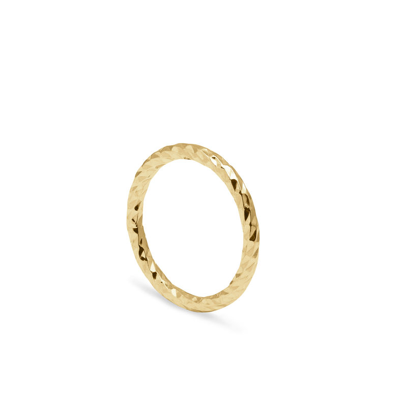 FACETED DIAMOND BAND - GOLD - product image