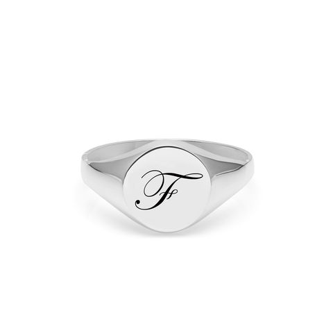 EDWARDIAN,INITIAL,F,SIGNET,RING,-,SILVER