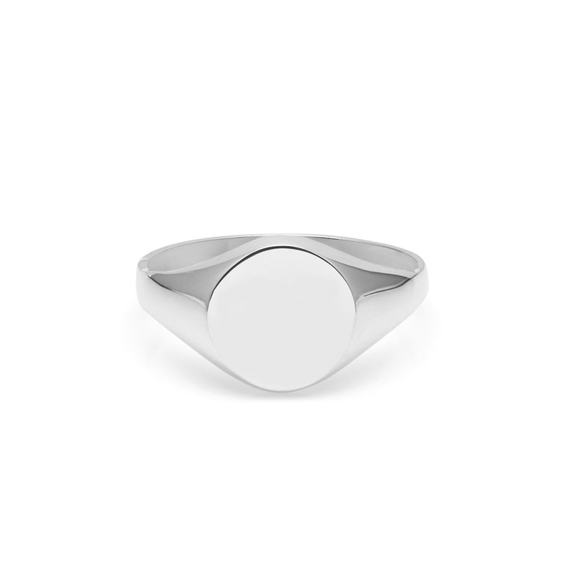 ROUND SIGNET RING - SILVER - product images  of