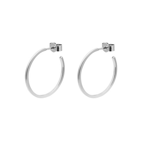 MEDIUM,HOOP,EARRINGS,-,SILVER
