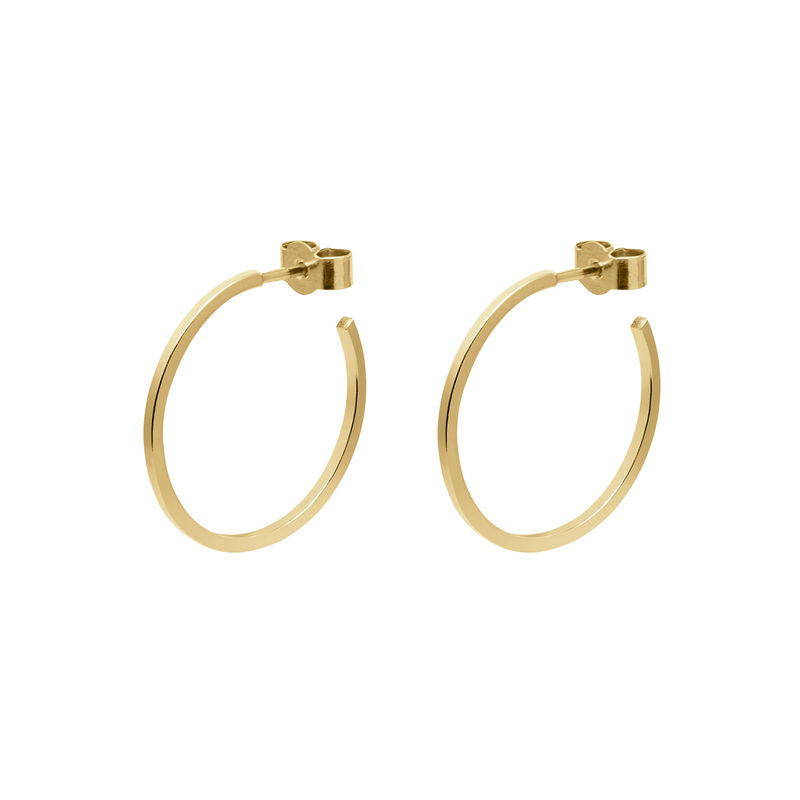 MEDIUM HOOP EARRINGS - GOLD - product images  of