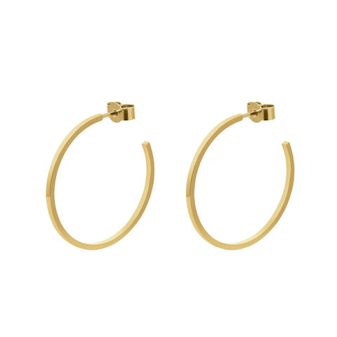LARGE,HOOP,EARRINGS,-,GOLD