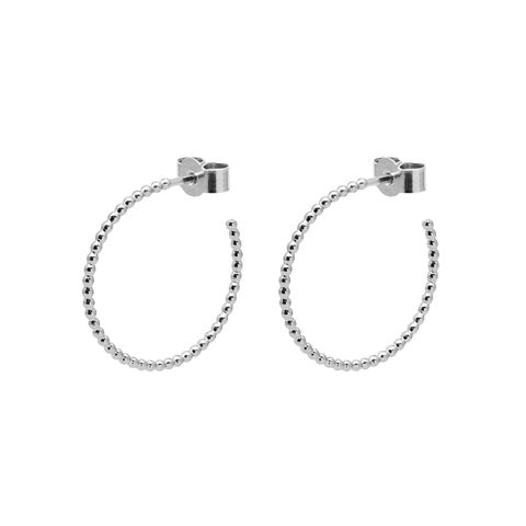 MEDIUM,BALL,HOOP,EARRINGS,-,SILVER,hoop earrings, silver hoops, designer hoops,
