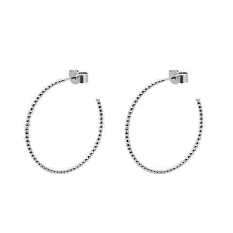 LARGE,BALL,HOOP,EARRINGS,-,SILVER