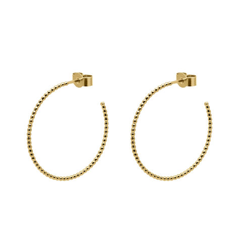 LARGE,BALL,HOOP,EARRINGS,-,GOLD,gold hoop, gold hoop earrings, ball hoops