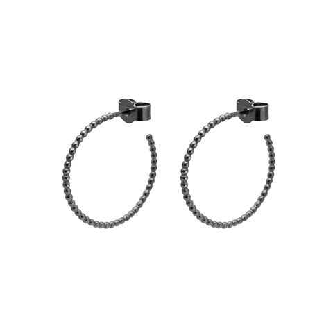 MEDIUM,BALL,HOOP,EARRINGS,-,BLACK,black hoops, oxydised hoops, oxidised hoops, black hoop earrings
