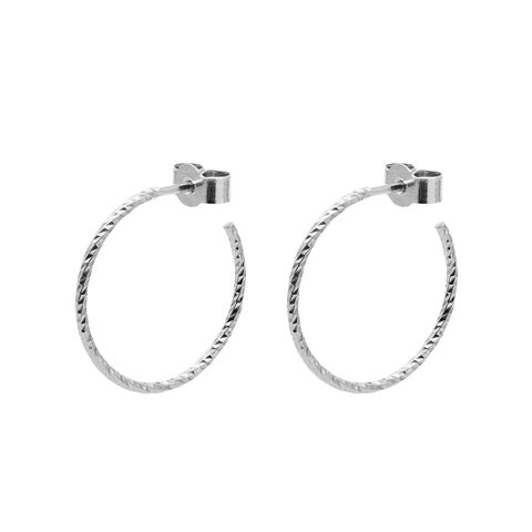MEDIUM,DIAMOND,HOOP,EARRINGS,-,SILVER