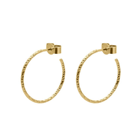 MEDIUM,DIAMOND,HOOP,EARRINGS,-,GOLD,gold hoops, Gold hoop earrings, faceted hoops