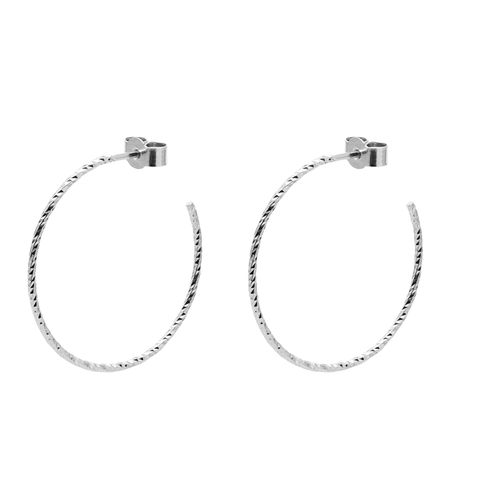 LARGE,DIAMOND,HOOP,EARRINGS,-,SILVER