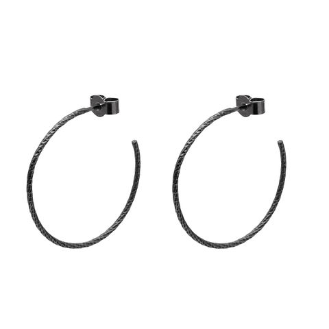 LARGE,DIAMOND,HOOP,EARRINGS,-,BLACK,black hoop earrings
