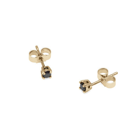 BLACK,DIAMOND,STUD,EARRINGS,-,9CT,YELLOW,GOLD,black diamond, diamond studs, minimal studs, minimal jewellery, minimalist jewelry, minimal jewelry