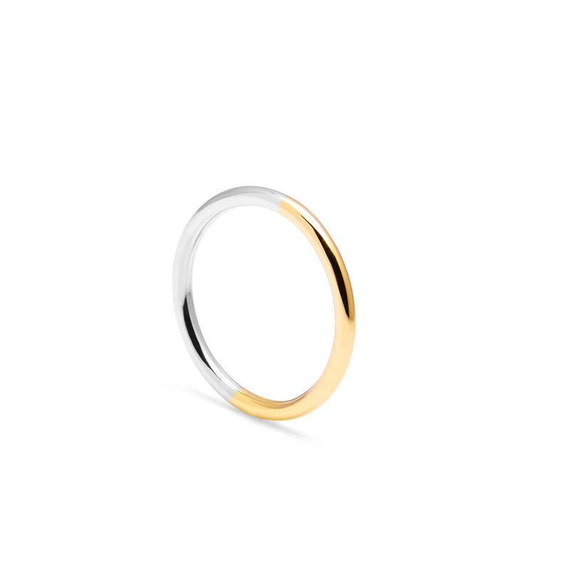 9CT TWO-TONE ROUND BAND - YELLOW/WHITE GOLD - product image
