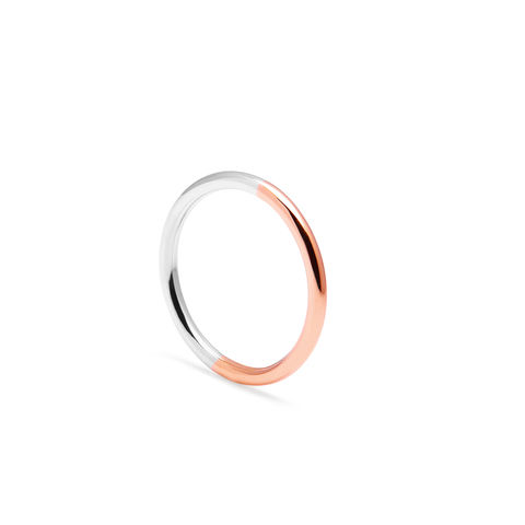 18CT,TWO-TONE,ROUND,BAND,-,ROSE/WHITE,GOLD,rose gold halo ring, 18ct rose gold and white gold ring, minimalist wedding ring, geometric wedding