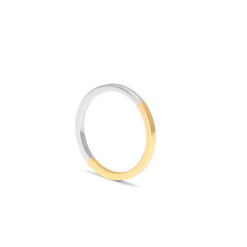 18CT,TWO-TONE,SQUARE,RING,-,YELLOW/WHITE,GOLD,18ct square wedding ring, 18ct flat wedding ring, mixed metal wedding ring 18ct, yellow and white gold ring