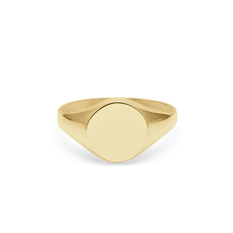 9CT,YELLOW,GOLD,ROUND,SIGNET,RING