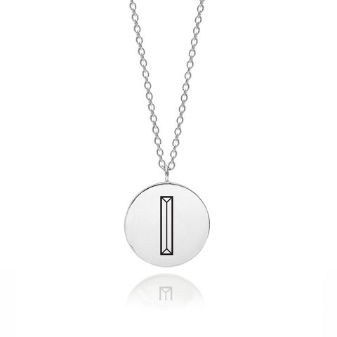 FACETT,INITIAL,I,NECKLACE,-,SILVER