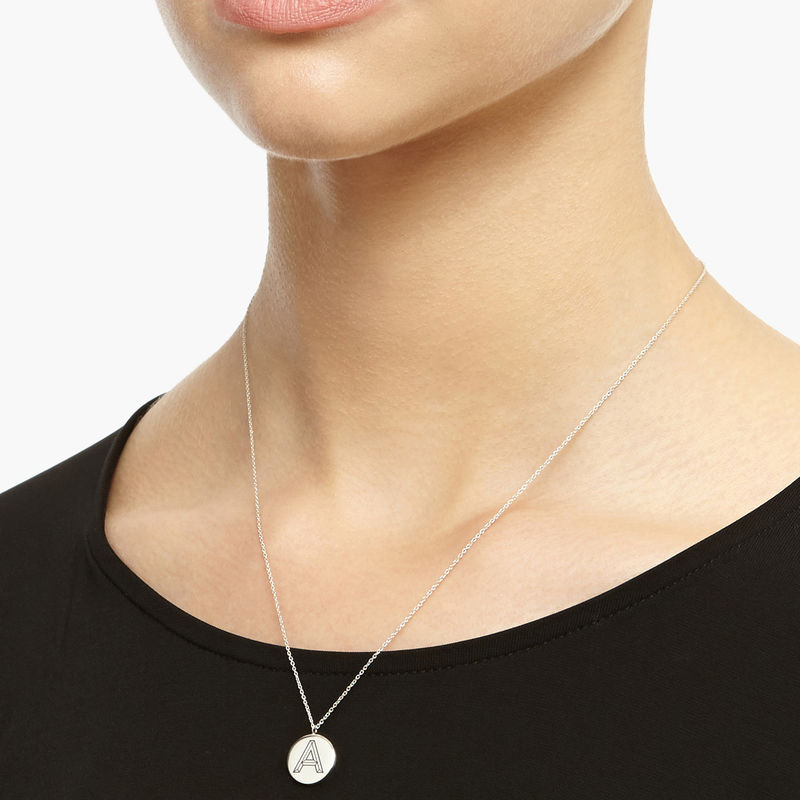 FACETT INITIAL J NECKLACE - SILVER  - product image