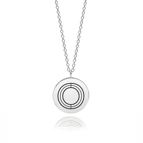 FACETT,INITIAL,O,NECKLACE,-,SILVER