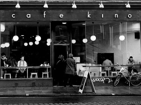 Cafe,Kino,Black and white, Black and white photography, Bristol, cafe