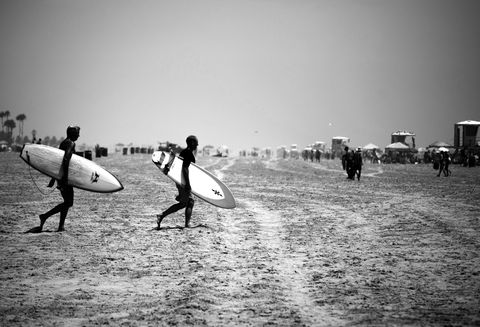 Surfers,walk,black and white, surfer, surfing, beach