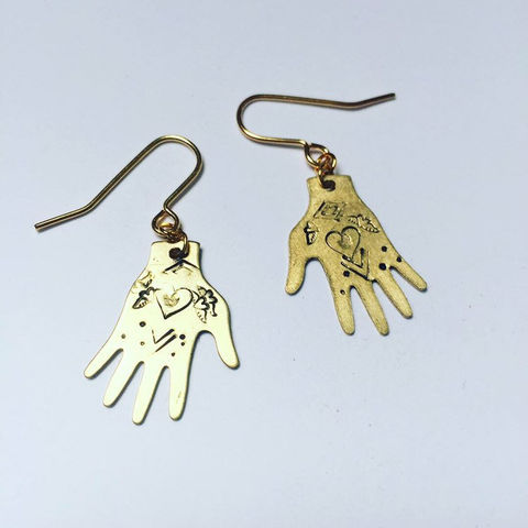 Healing,Hands,Golden,Brass,Earrings,gypsy_earrings,folk_art,drop_earrings,light_workers,reiki,healing_hands,gold_hands,hands,gold_hand,healing_jewelry,healing_jewellery,hand_earrings,mystical