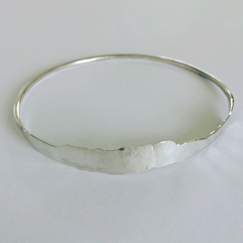 Hammered Sterling Silver Bangle  - product images  of
