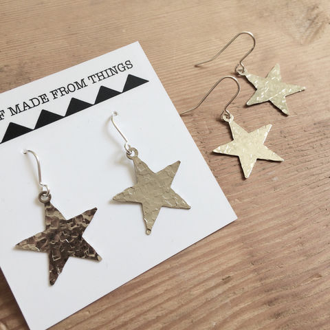 Silver,Tone,Hammered,Star,Earrings,galaxy_jewellery,drop_earrings,geometric_earrings,stars,hammered_stars,silver_stars,hammered_silver,hammered_earrings,star_earrings,gypsy_earrings,festival_earrings,boho_earrings,sparkle