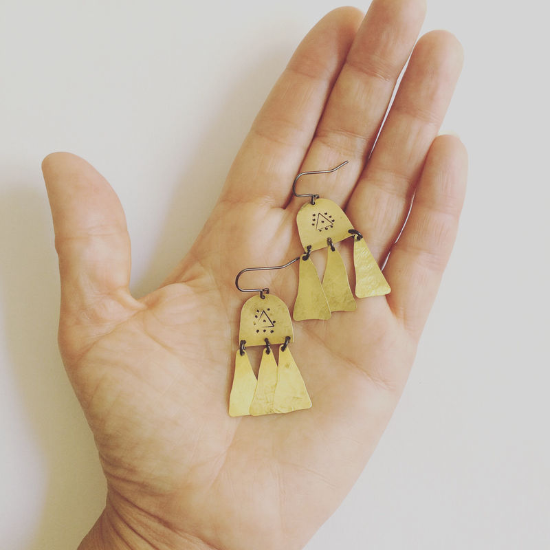PROTECTION Brass Chandelier Earrings - product images  of