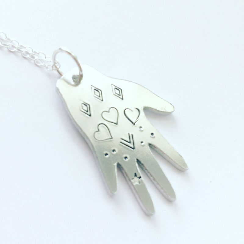 Healing Hand with Hearts Necklace  - product images  of