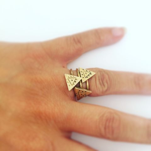 Protection,Triangular,Ring,in,Golden,Brass,Halloween,triangle_ring,statement_ring,boho_ring,tribal_ring,mystic_ring,festival_ring,geometric_ring,gypsy_ring,evil_eye_ring,brass_ring,gold_ring