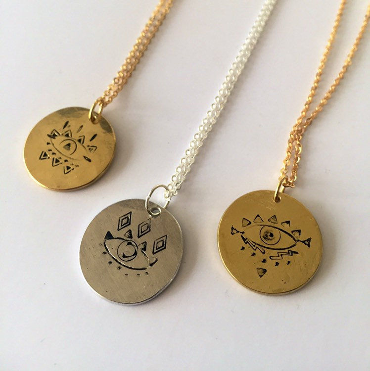 OBSERVE Necklace in Silver Tone or Golden Brass - product images  of