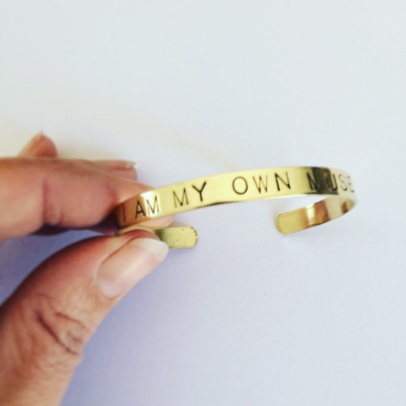 I Am My Own Muse Brass Cuff  - product images  of