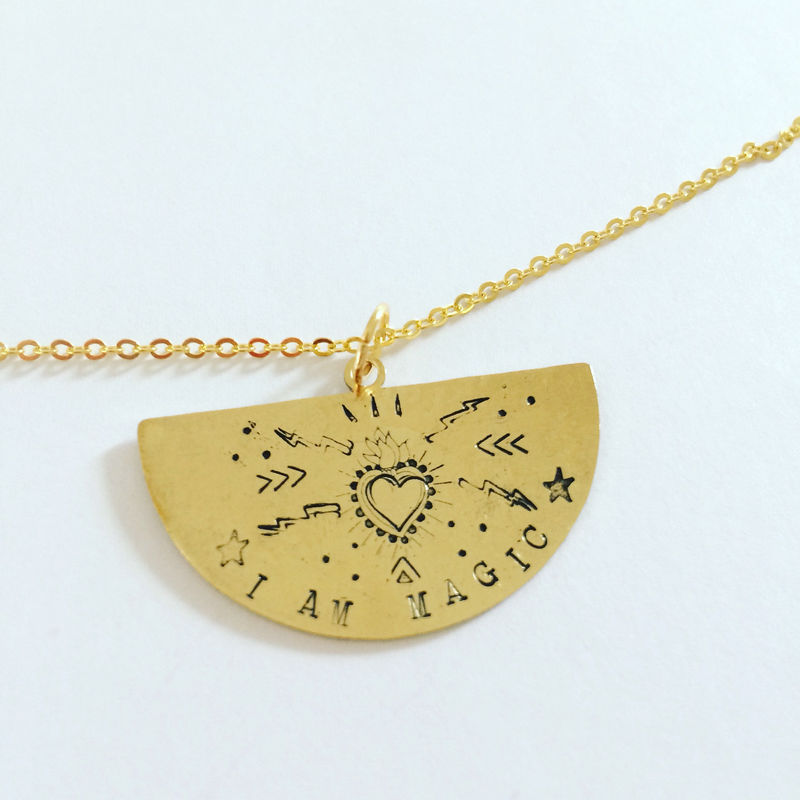 I AM MAGIC Golden Brass Necklace  - product images  of