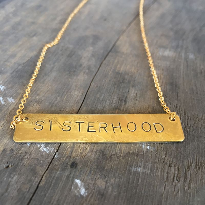 SISTERHOOD Brass Necklace - product images  of