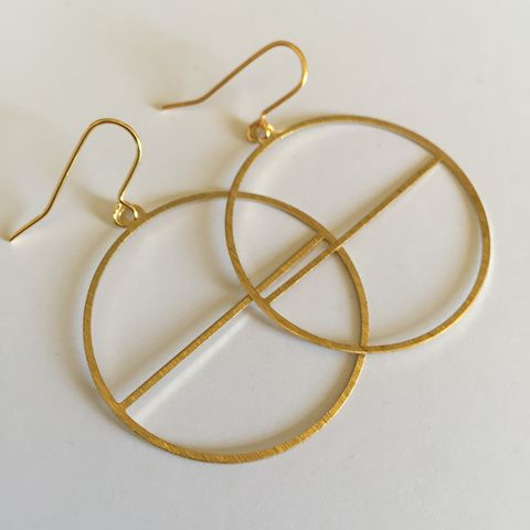 Brass,Hoops,with,Line,brass hoops, gold hoops, hoop earrings, delicate earrings, medium earrings,
