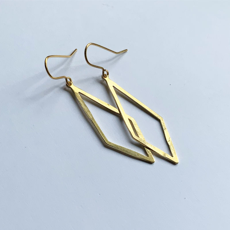 Brass Diamond Hoops  - product images  of