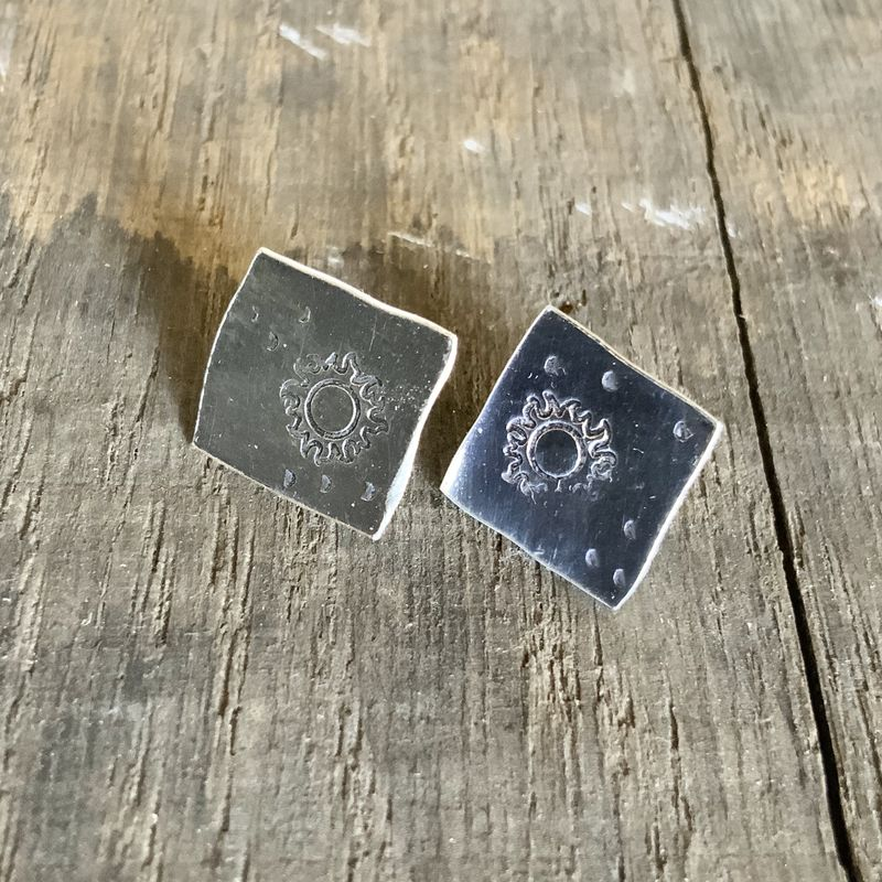 Sterling Silver Sun Studs  - product images  of