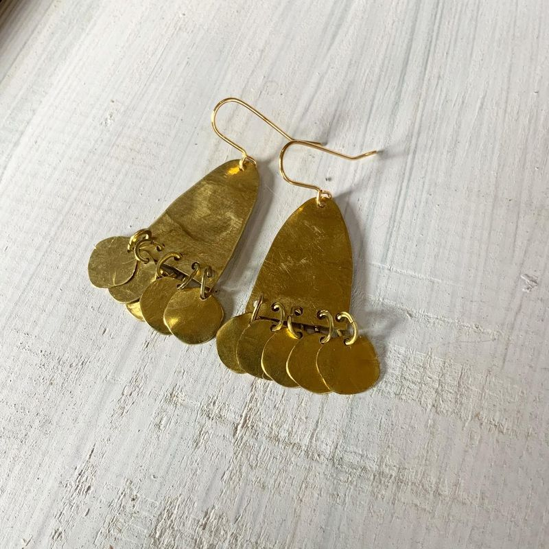 CHIME Brass Chandelier Earrings  - product images  of