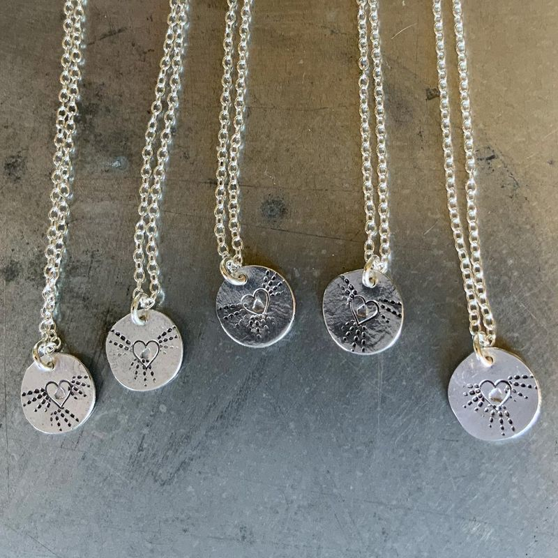 Hammered Silver Hope Necklace - product images  of