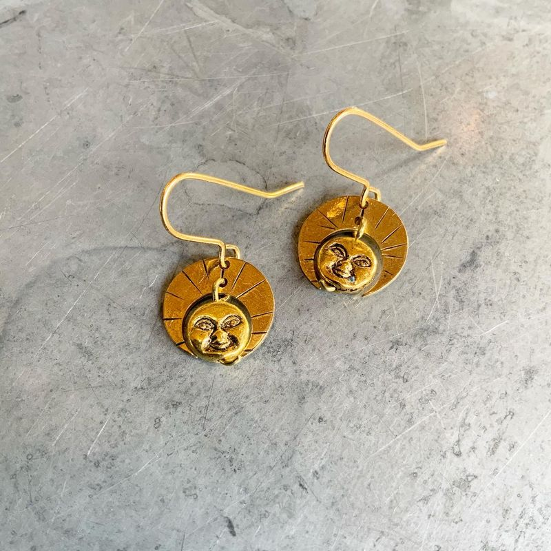Little Deity Gold Earrings   - product images  of