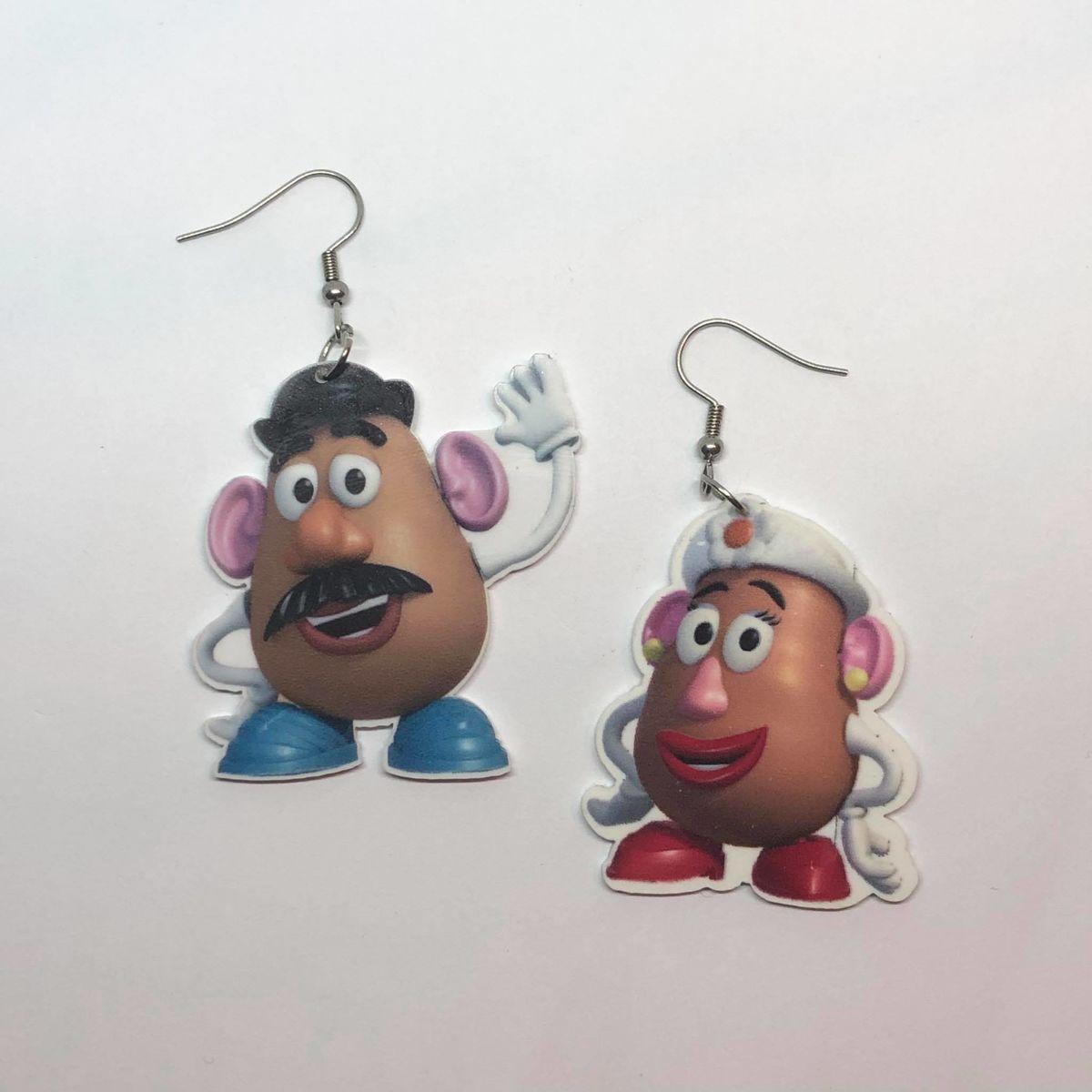 Mr Potato Head Toy Story Tiny Stud Studs Earring Pair Earrings Cute Small Disney Inspired Charm Y2K Kawaii Cute Japanese Art Hoe Culture Harajuku Vintage Aesthetic Retro KPOP