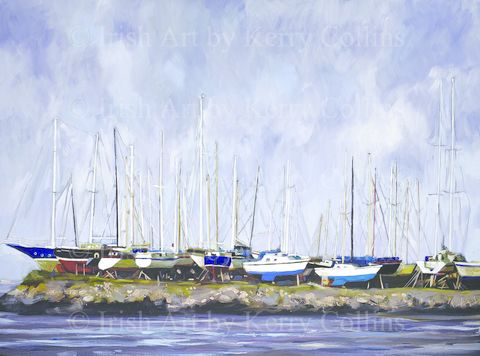 Winter,boatyard,1,Kerry, collins, art, boatyard, Crosshaven, yachts, boats, sea, cork