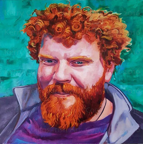 Denis,Kerry, Collins, Art, prints, redhead, Celtic, Irishman, character, portrait, beards